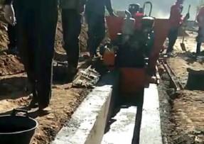 矩形现浇水渠机施工现场视频