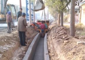 钢筋混凝土水渠机现场(河北沧州)