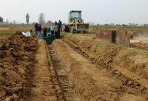 水泥沟渠机挖斗