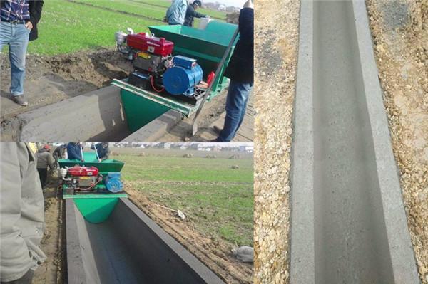 0.4/0.8米U型渠农渠现浇成型施工