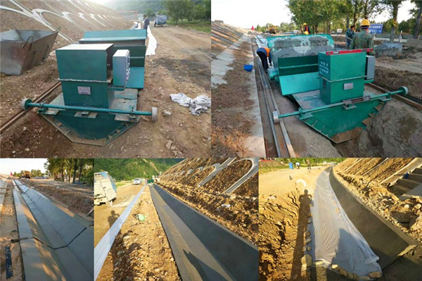 高速边沟排水渠施工现场