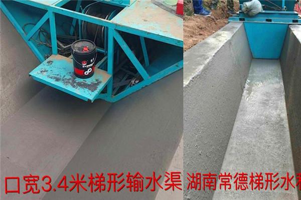 3.4米梯形混凝土衬砌渠施工现场
