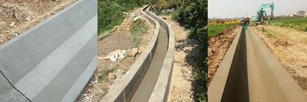 自走式水渠成型机渠型效果