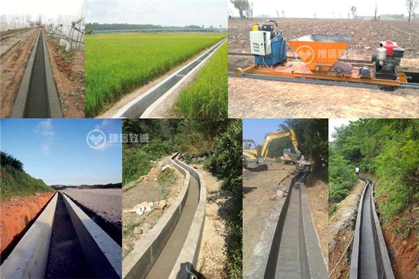 矩形公路排水边沟成型机施工成品