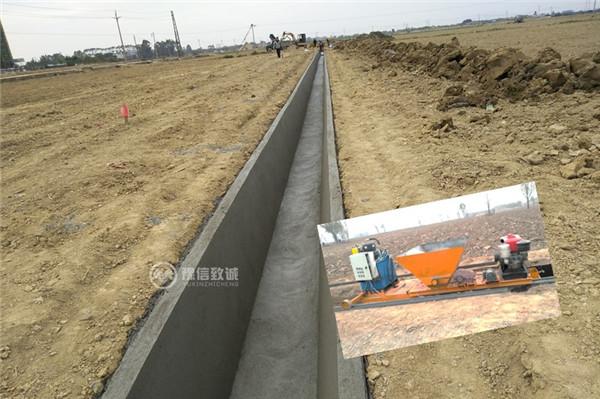 梯形全自动水渠成型机施工