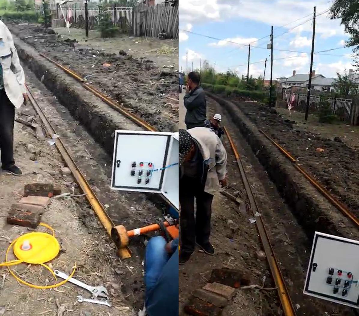 绥化公路边沟现场开挖后渠型较为标准